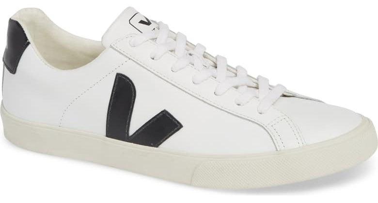 Veja Espalar sneaker in extra white black colorway