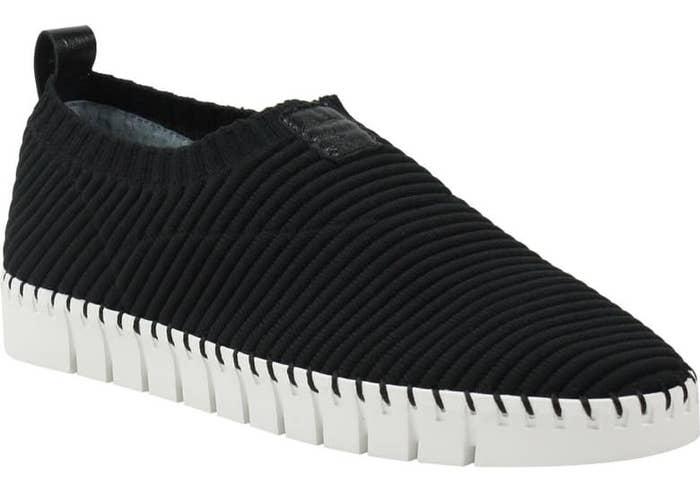J.Renee Donnia Slip-On Sneakers in black fabric