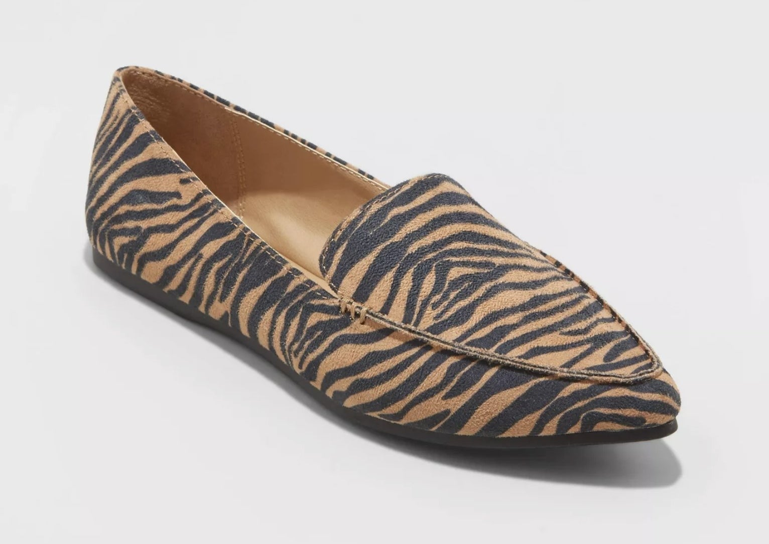 the tiger print loafers
