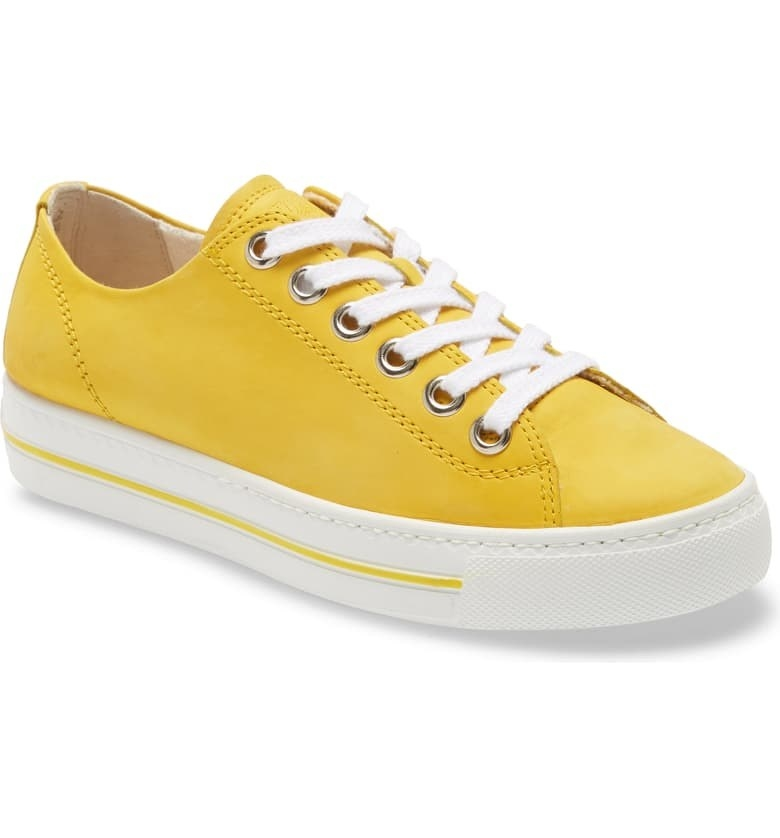 Paul Green Ally Low Top Sneakers sunflower nubuk colorway
