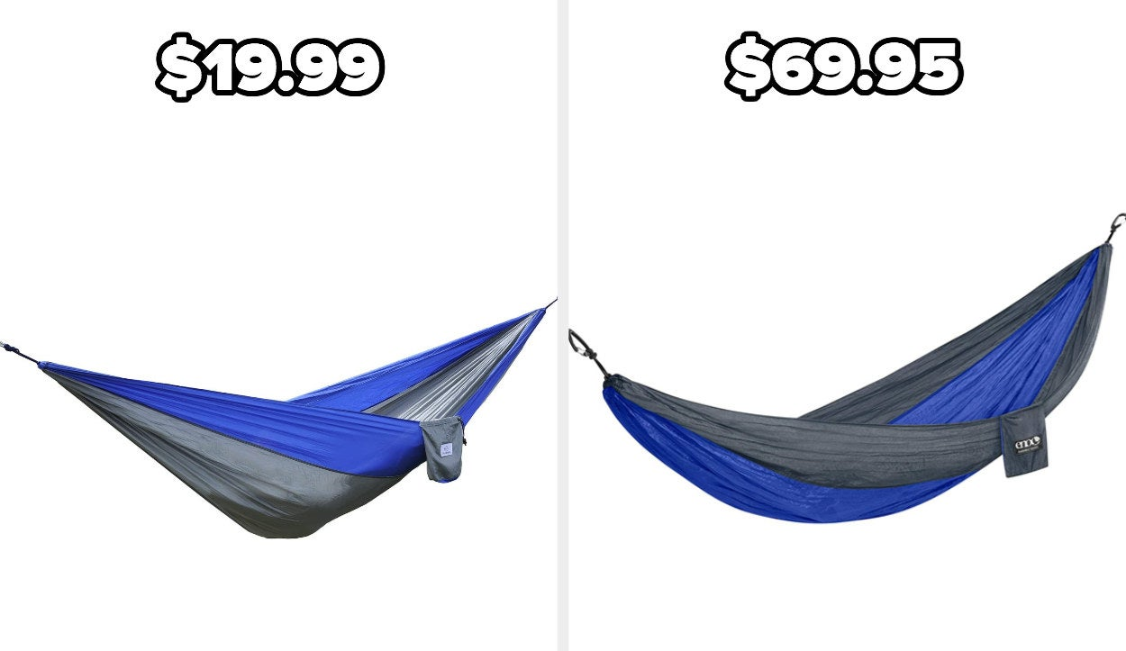 On the left, an OuterEQ hammock, and on the right, an ENO hammock