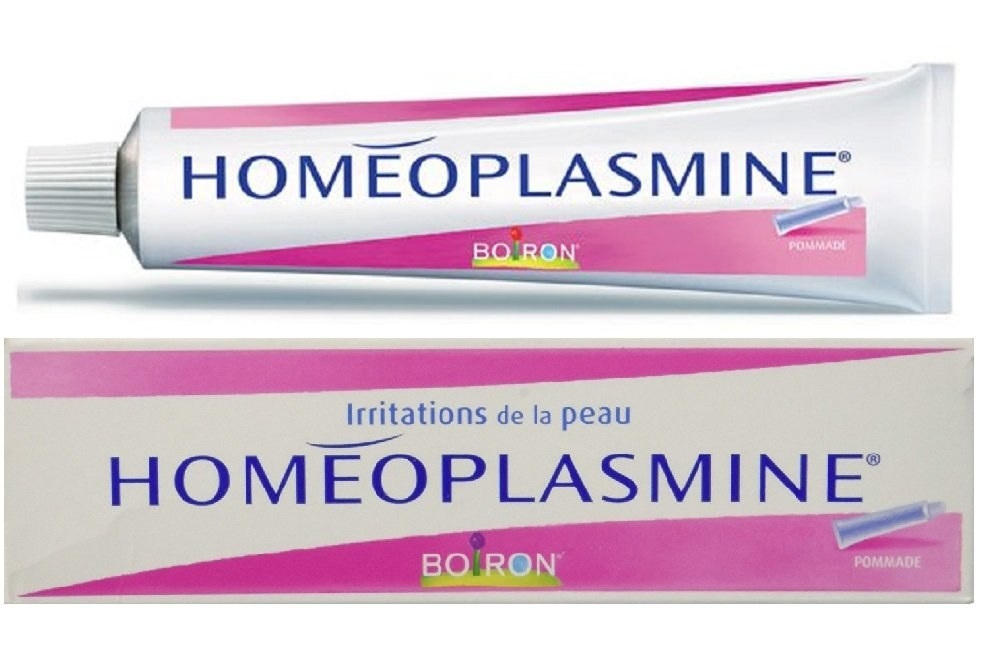 A tube of Homeoplasmine.