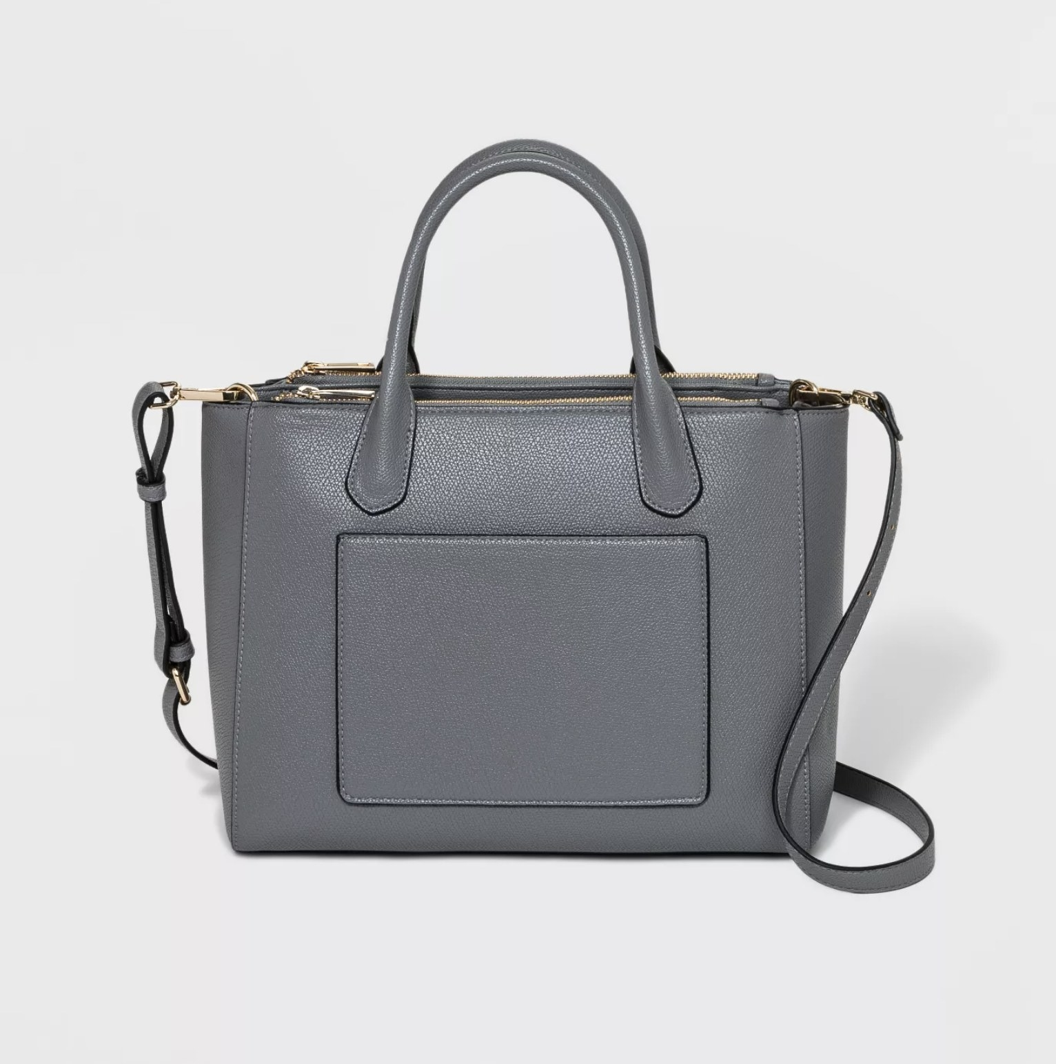 the gray satchel handbag