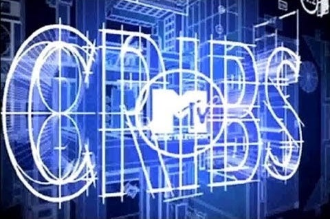 "The title card for ""MTV Cribs"" that looks like 3D blue prints."