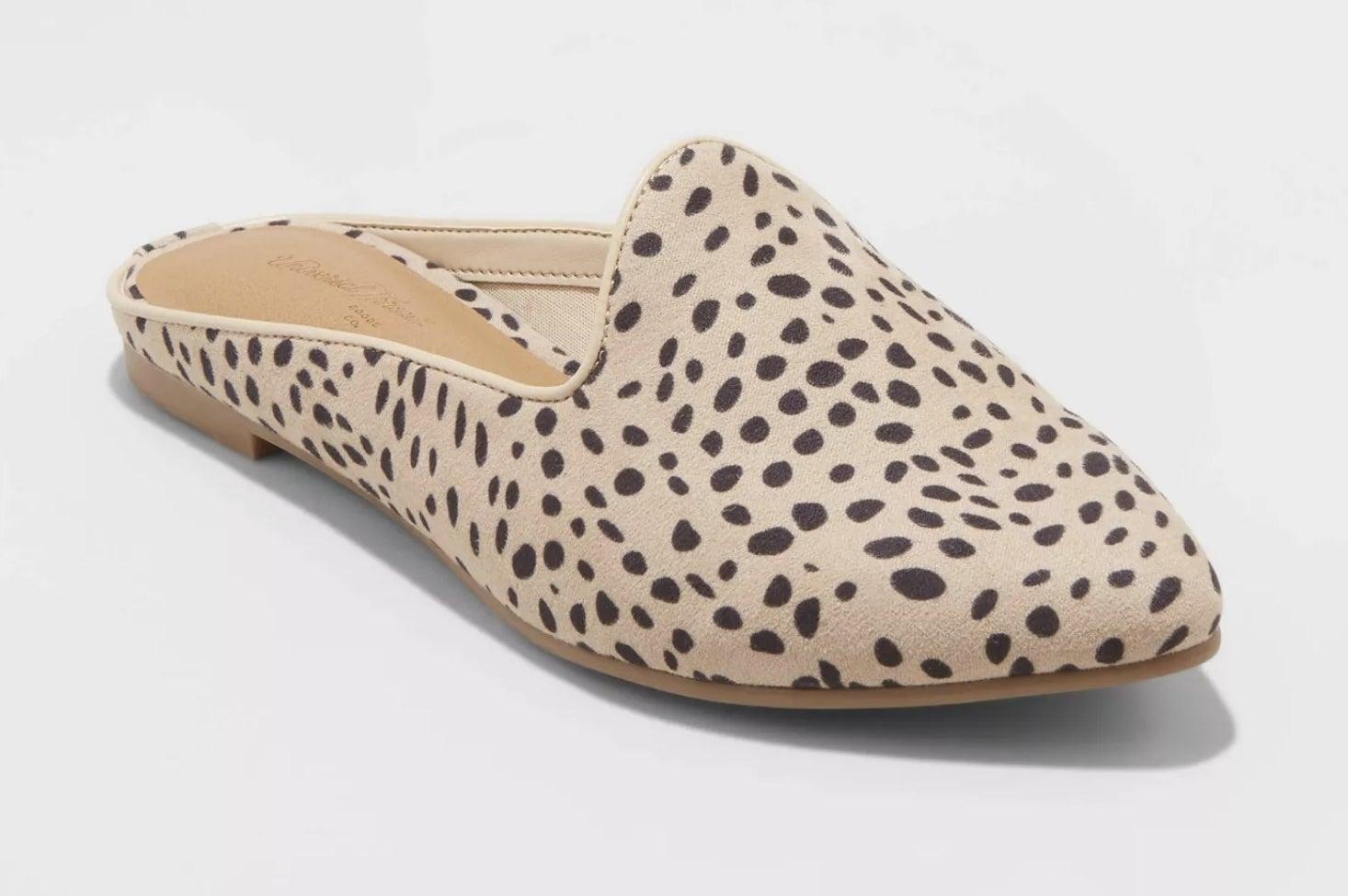 the leopard print mules