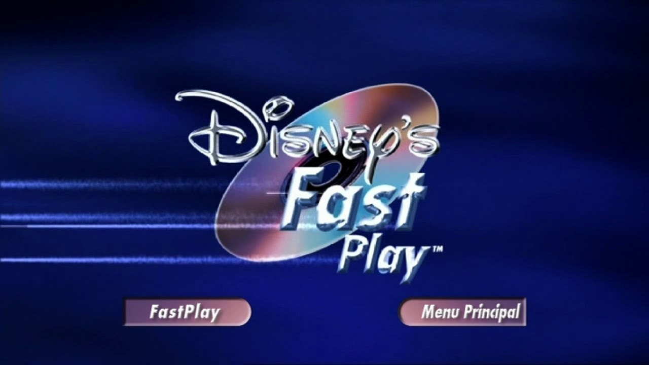 The Disney's Fast Play screen that would display in the beginning of DVDs.
