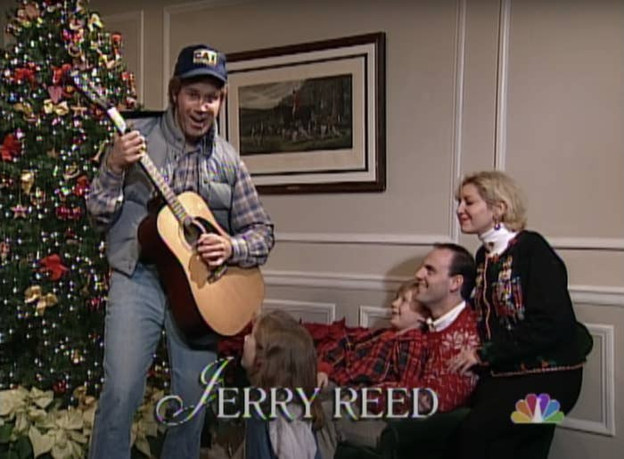 """Ferrell in said outfit during the """"Smokey and the Bandit"""" sketch"""