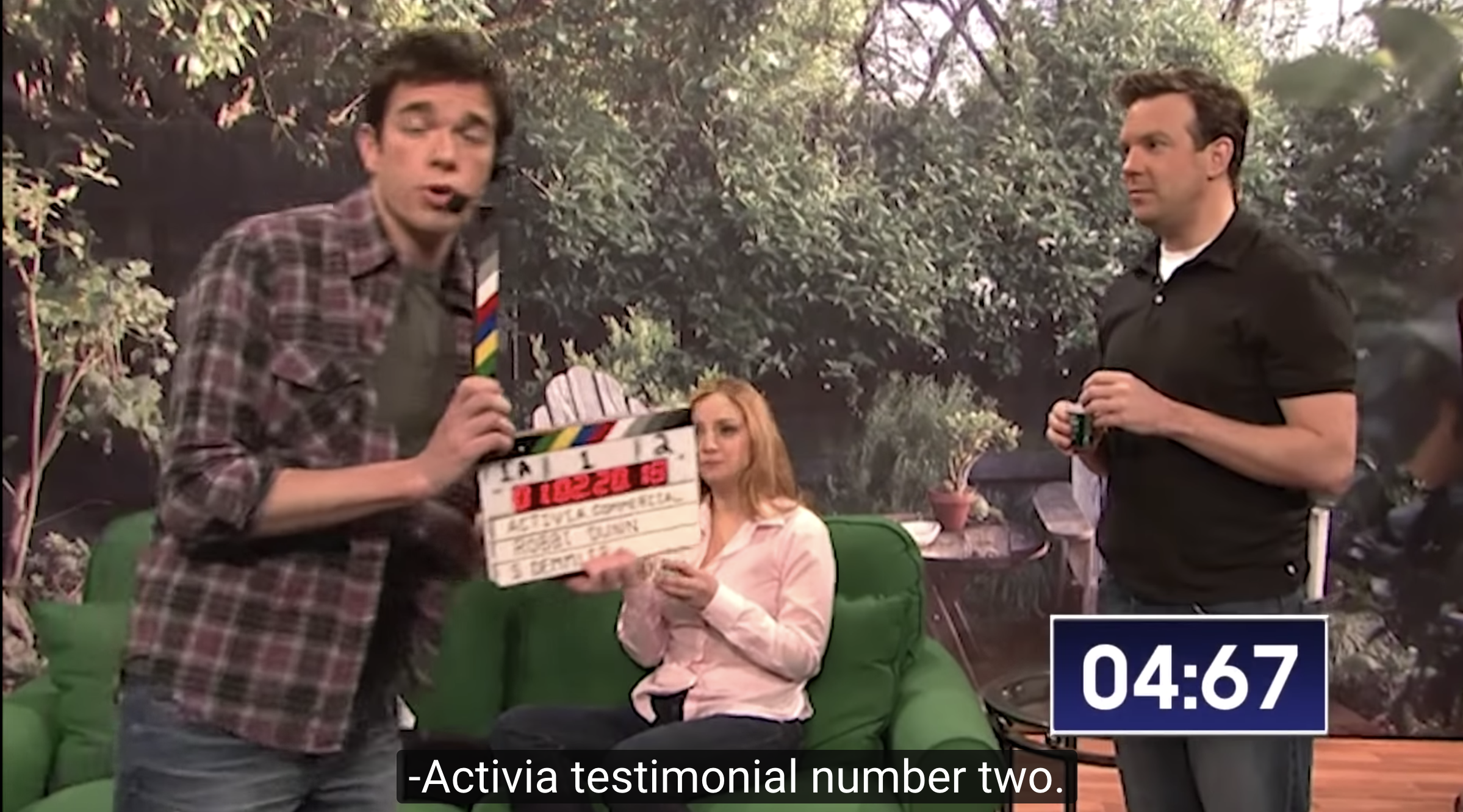 "Mulaney's appearance in the ""Activia"" sketch"