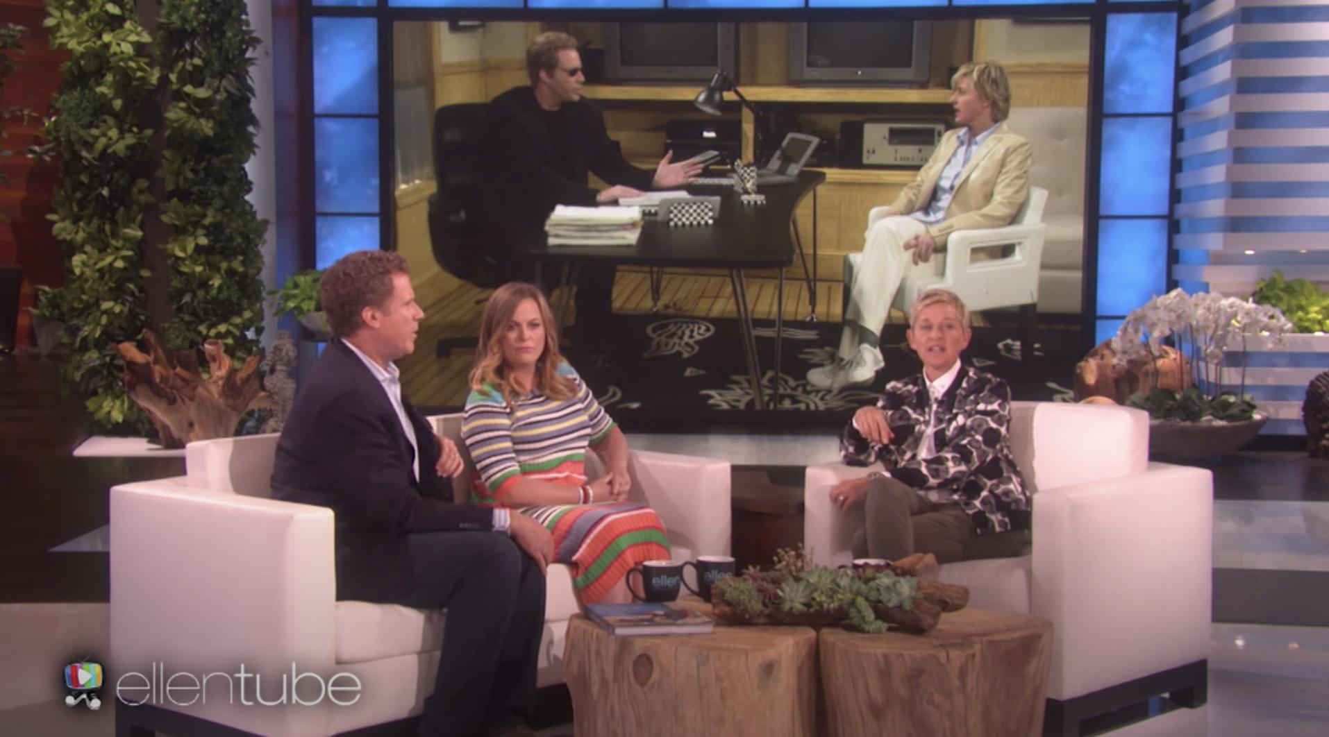 """Ferrell and Poehler being interviewed on """"Ellen"""""""