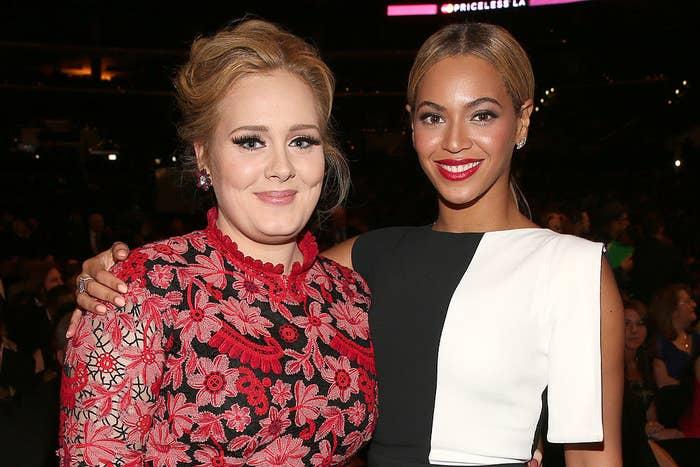 Adele and Beyoncé at an award show
