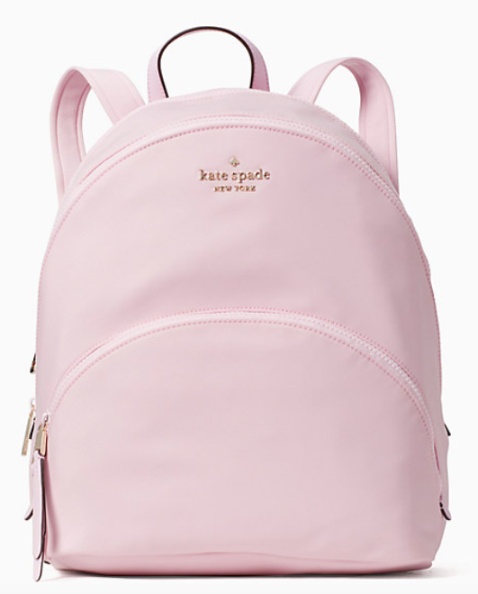The Karissa backpack in serendipity pink.