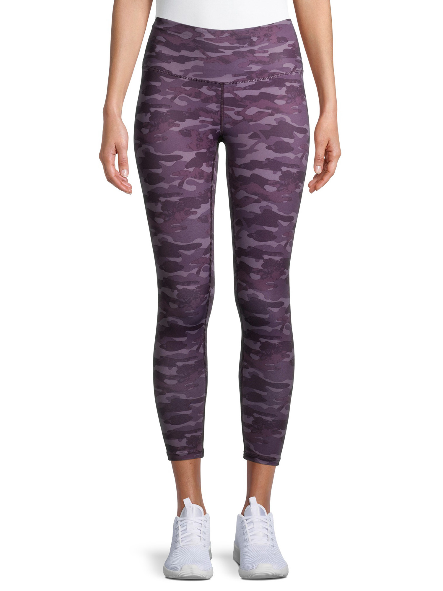 the leggings in purple camo
