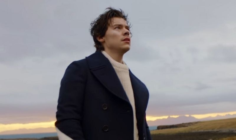 Harry standing in the countryside, staring into the sky
