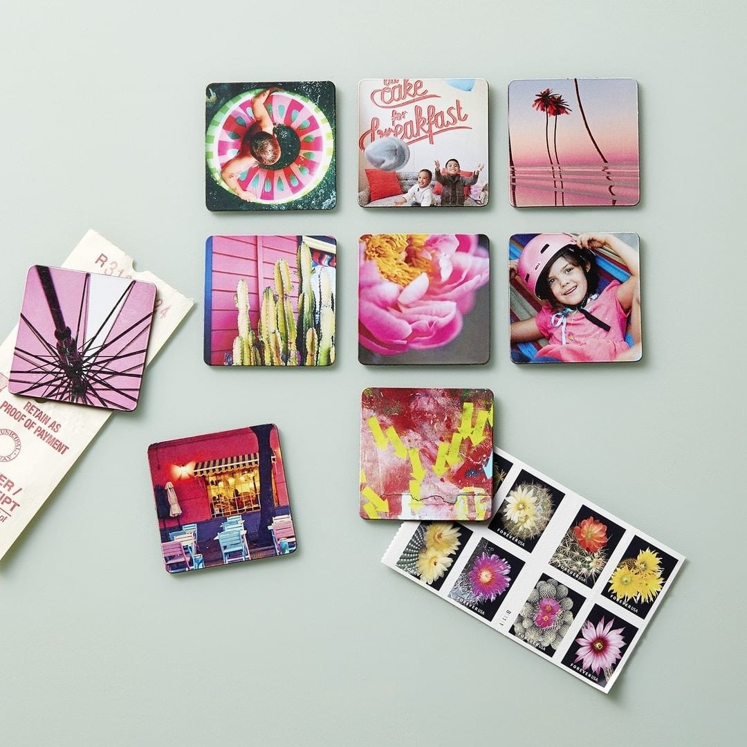 A set of photo magnets