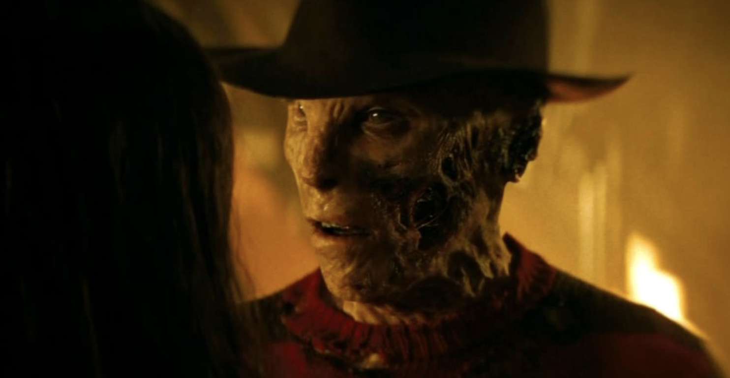 Jackie Earle Haley in poor Freddy Kruger face makeup