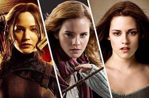 Katniss Everdeen, Hermione Granger, and Bella Swan