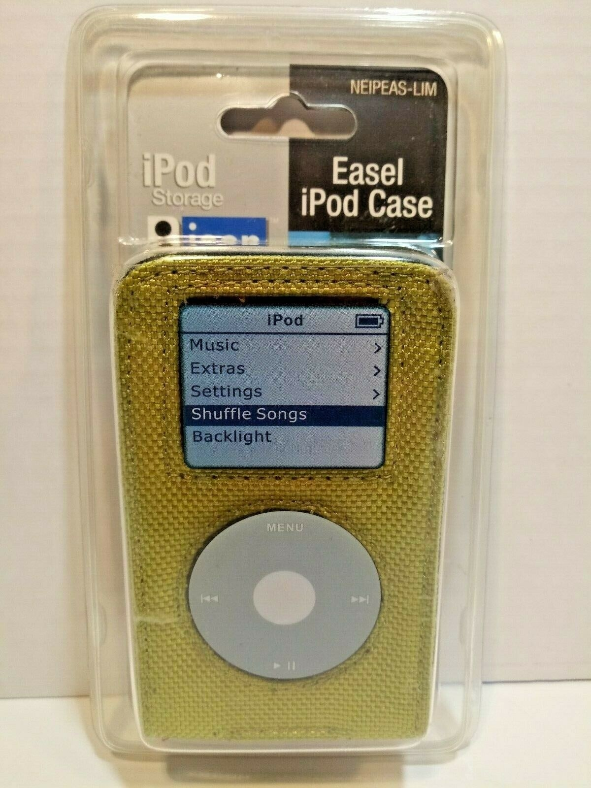 A gold case for a classic iPod.