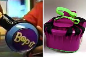 A Bop-It toy from the '90s