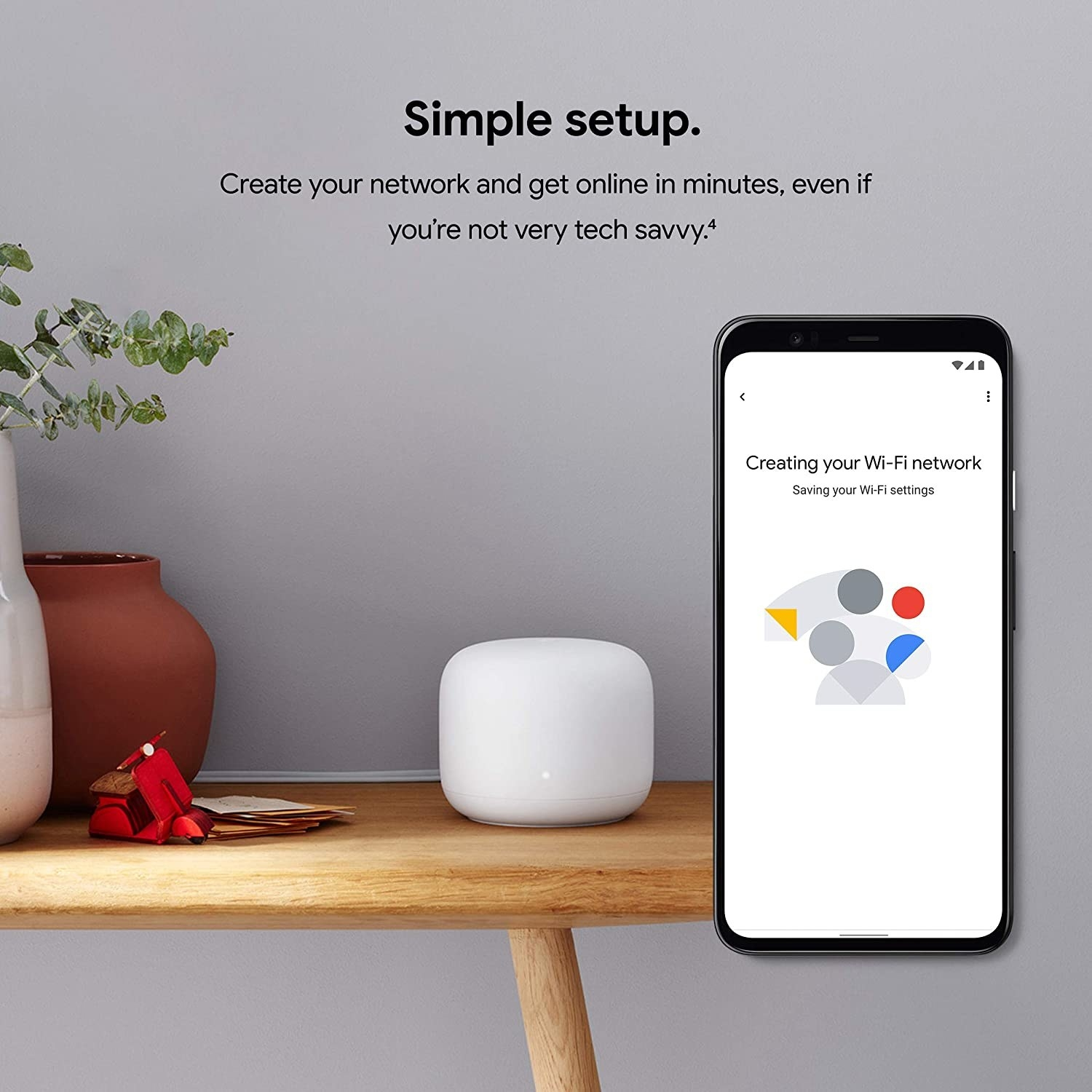 Google Nest Router, featuring a natural curved shape