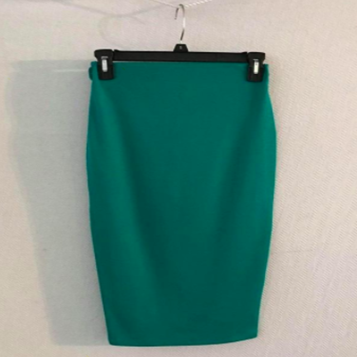 Reviewer photo showing green skirt nicely pressed with no wrinkles after using steamer