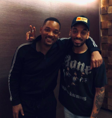 Morgan Cooper and Will Smith posing for a photo