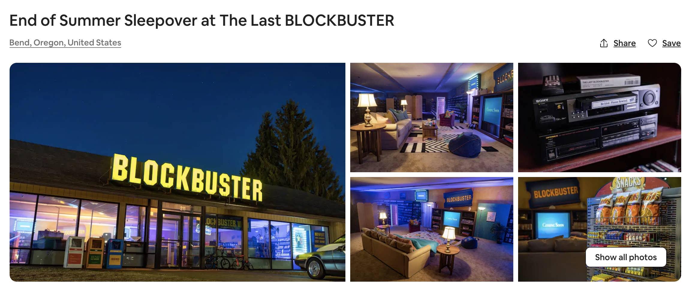 the last blockbuster turned into airbnb