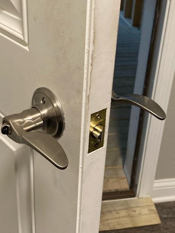 door handles on the wrong side of a door