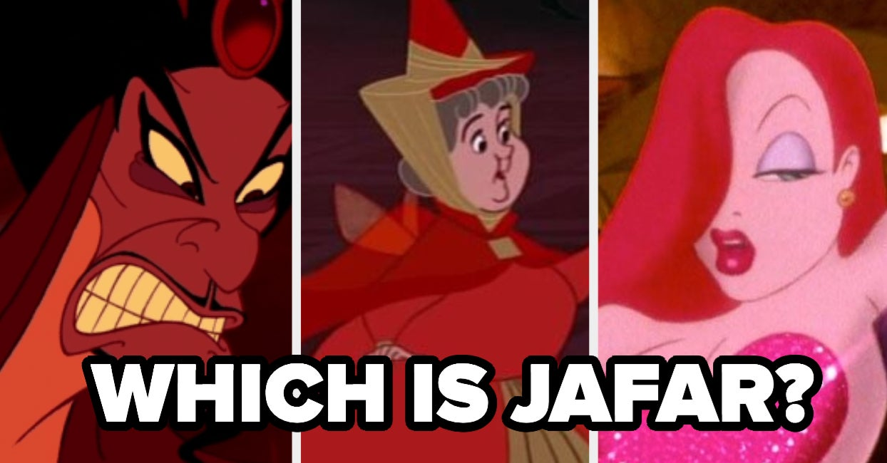 Can You Correctly Pair The Red Disney Character's Name To A Picture Of Them? thumbnail