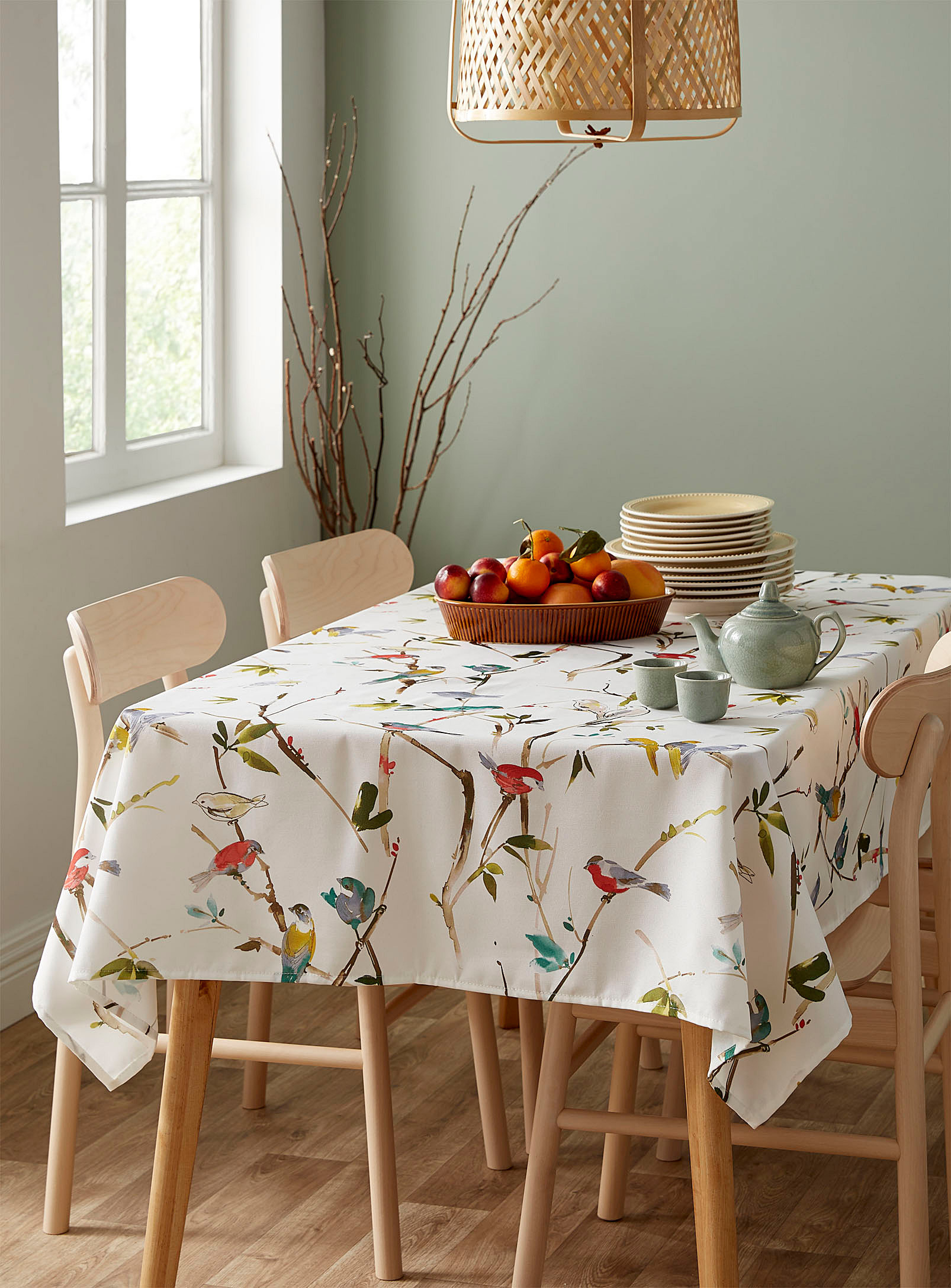 The table cloth on a table for four