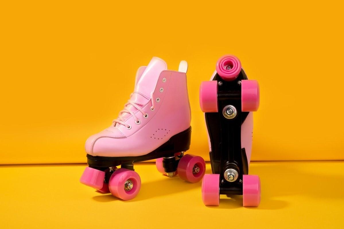 Angel Skates' pink quad roller skates
