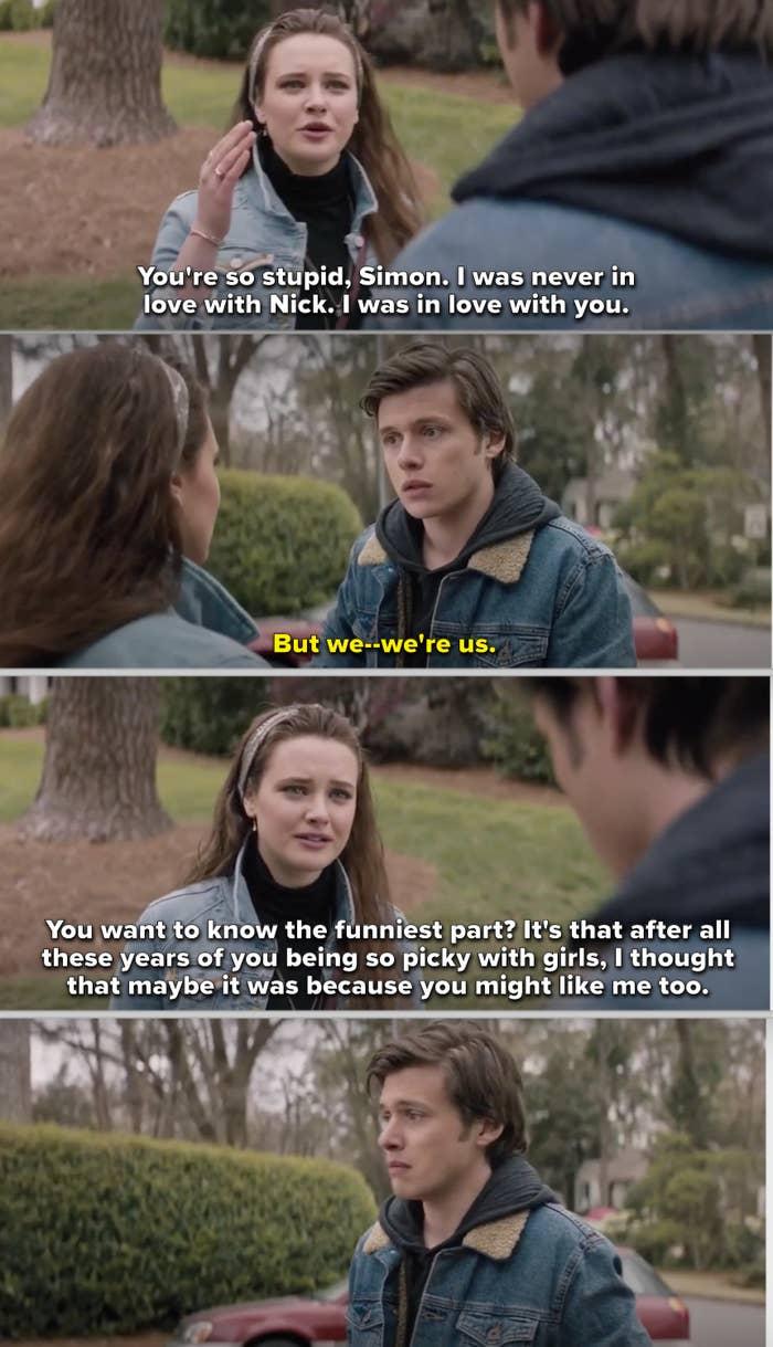 "Leah confronting Simon in ""Love, Simon"""