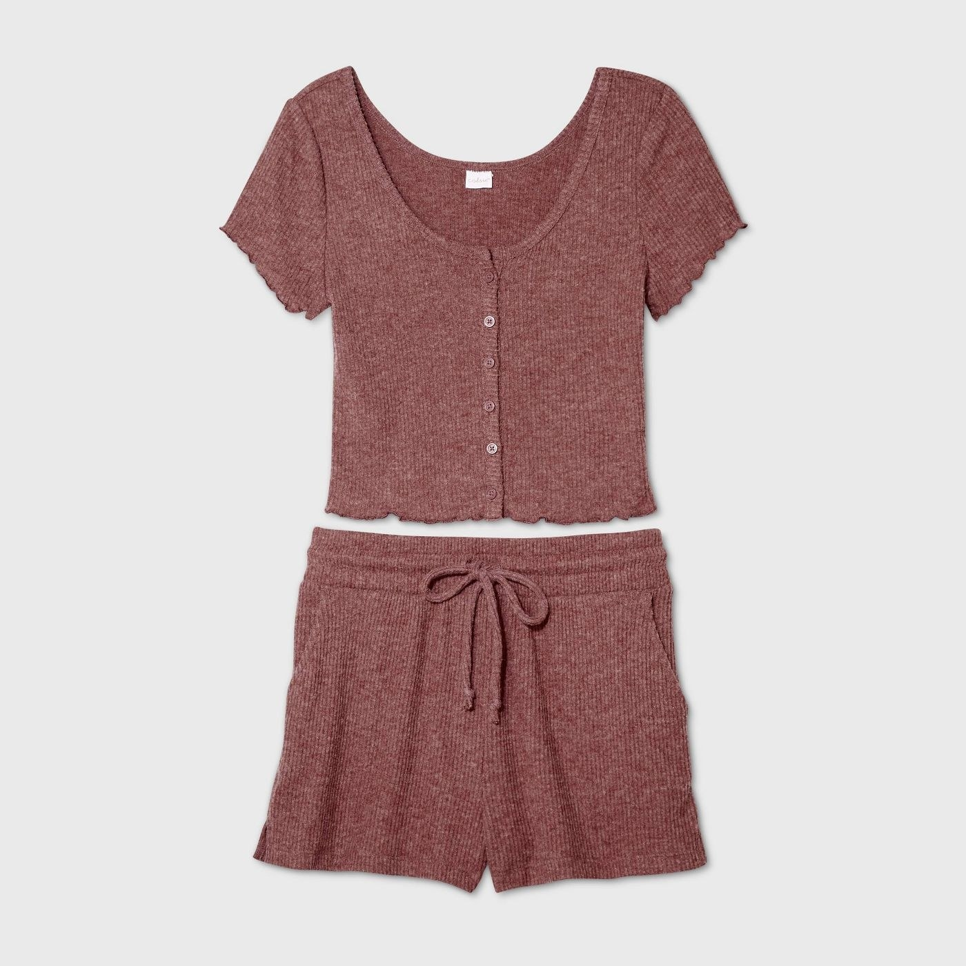 the rose-colored matching pajama set