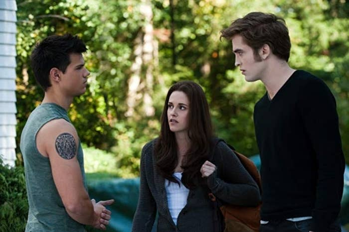 """Jacob, Edward, and Bella from """"Twilight"""""""