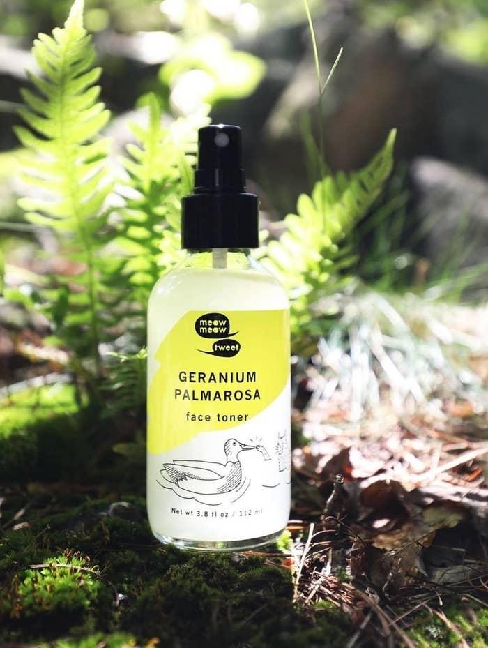 Meow Meow Tweet's Geranium Palmarosa face toner spray