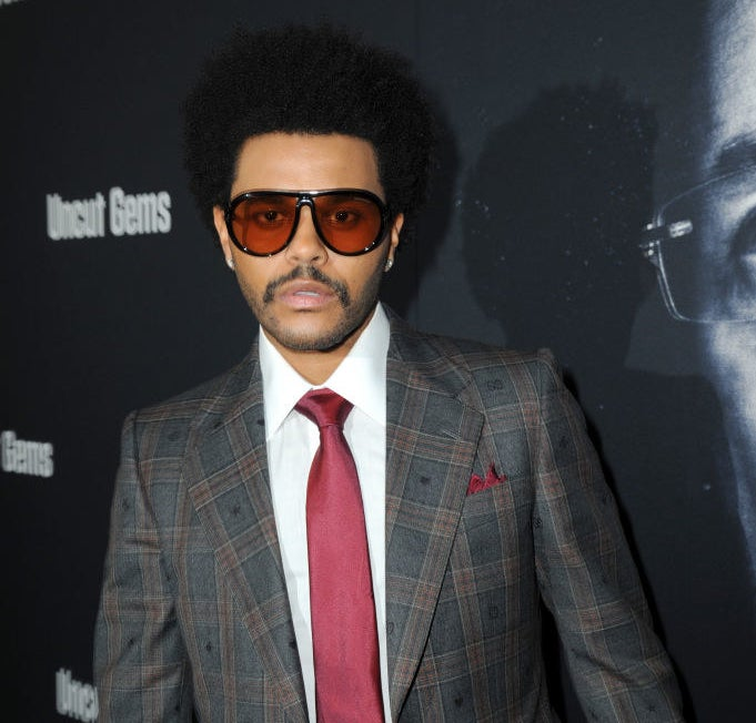Red carpet photo of singer The Weeknd