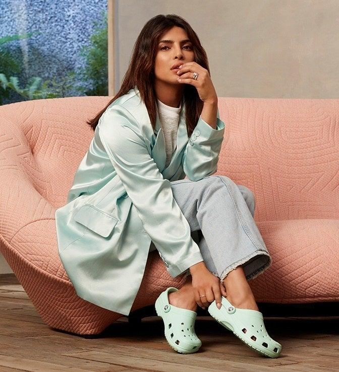 Priyanka Chopra wearing a pair of Crocs