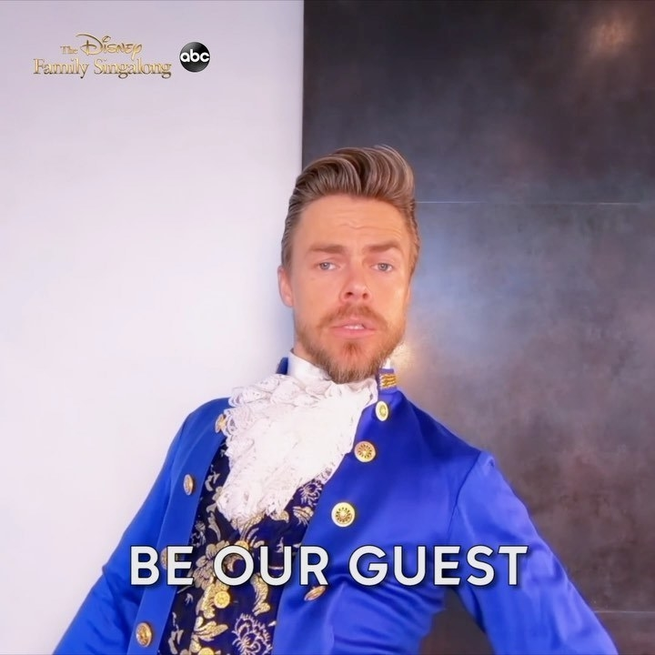 dancer derek hough dressed up as the beast from beauty and the beast