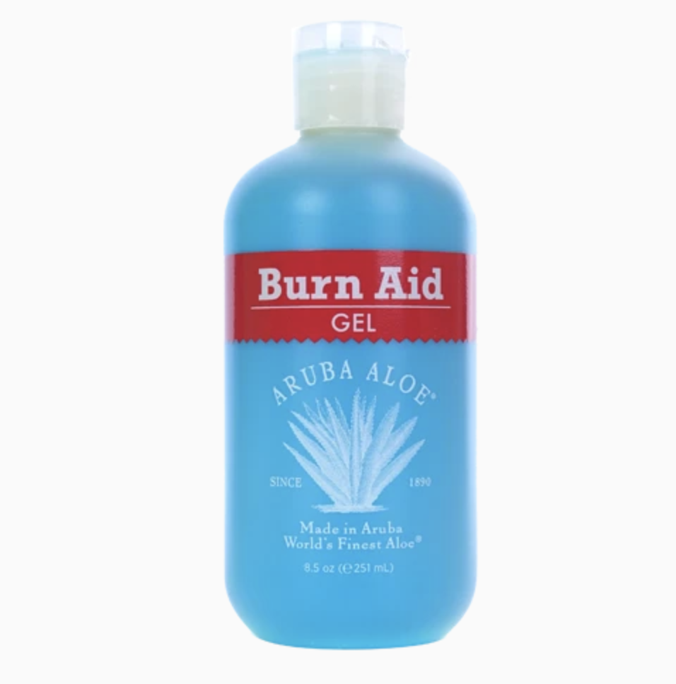 The bottle of burn aid gel