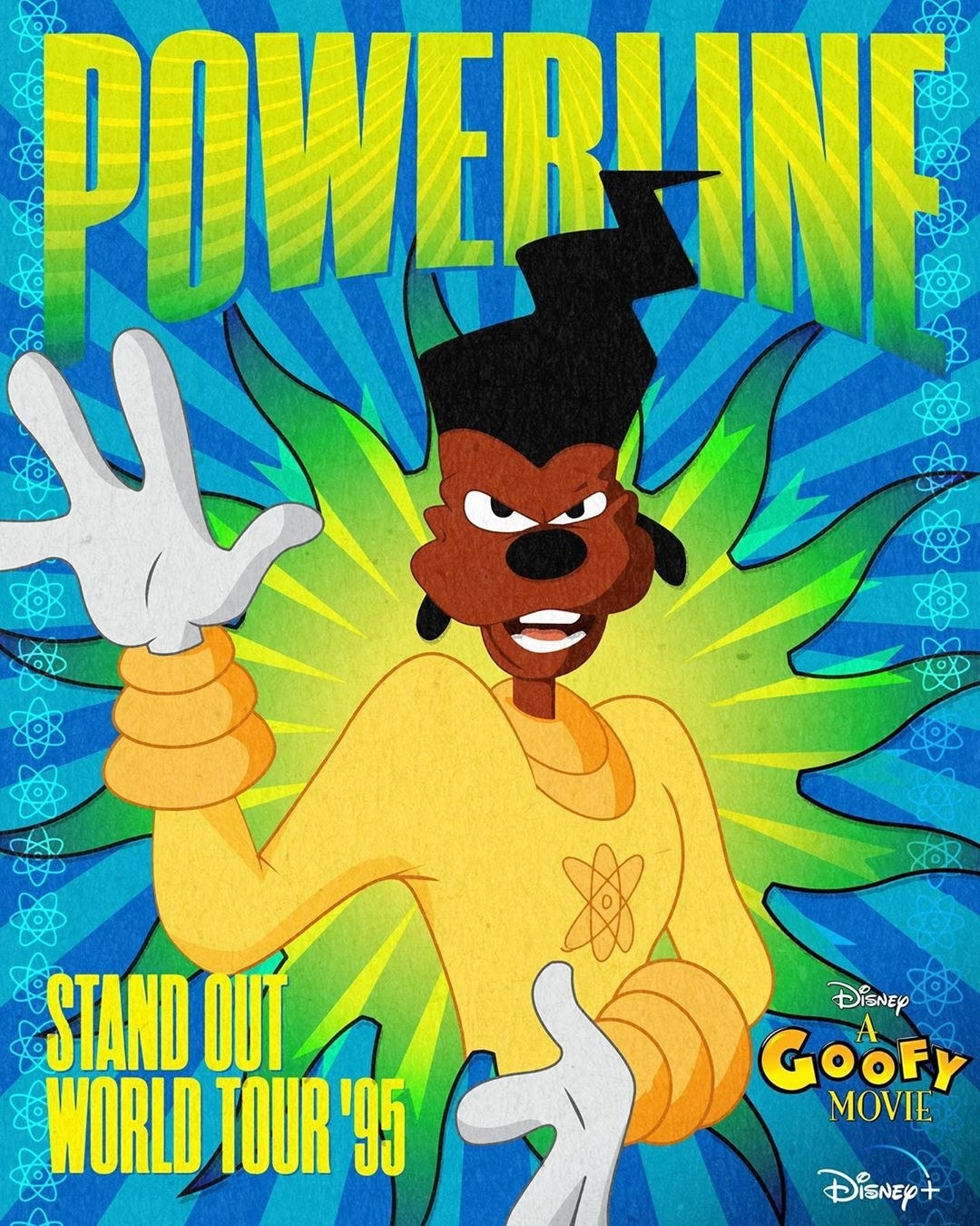 a fake powerline poster for the stand out world tour