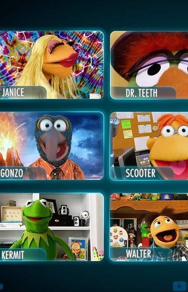 six of the muppets video chatting