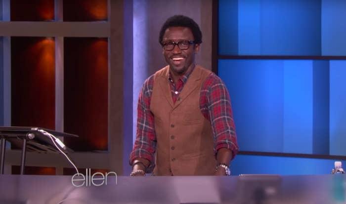 """Tony in his DJ booth on """"Ellen"""""""