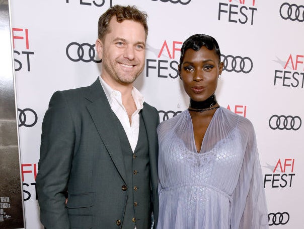 Joshua Jackson and Jodie Turner-Smith posing together at a Hollywood event