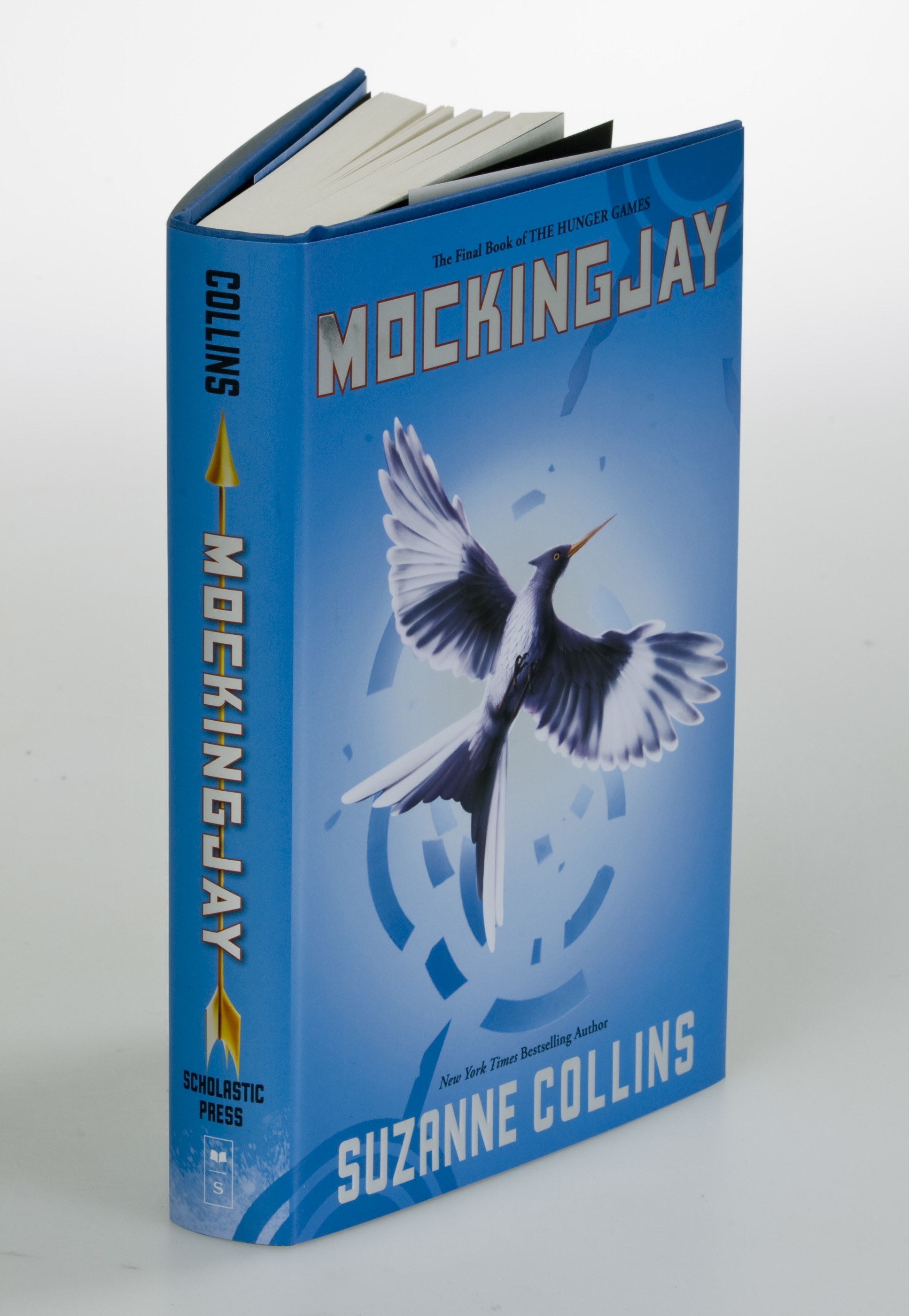 A press photo of the Mocking Jay book