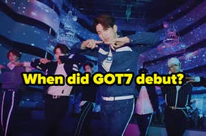 An image of GOT7 performing the choreography for Look in their music video