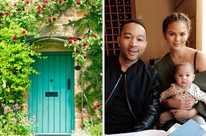 Cottage and John Legend and Chrissy Teigen with child.