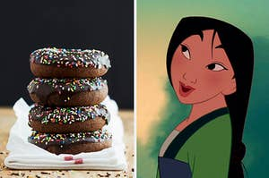 Chocolate donuts and Mulan