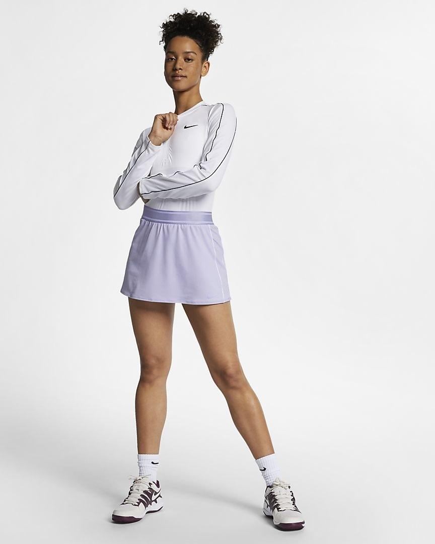 Model in the skirt