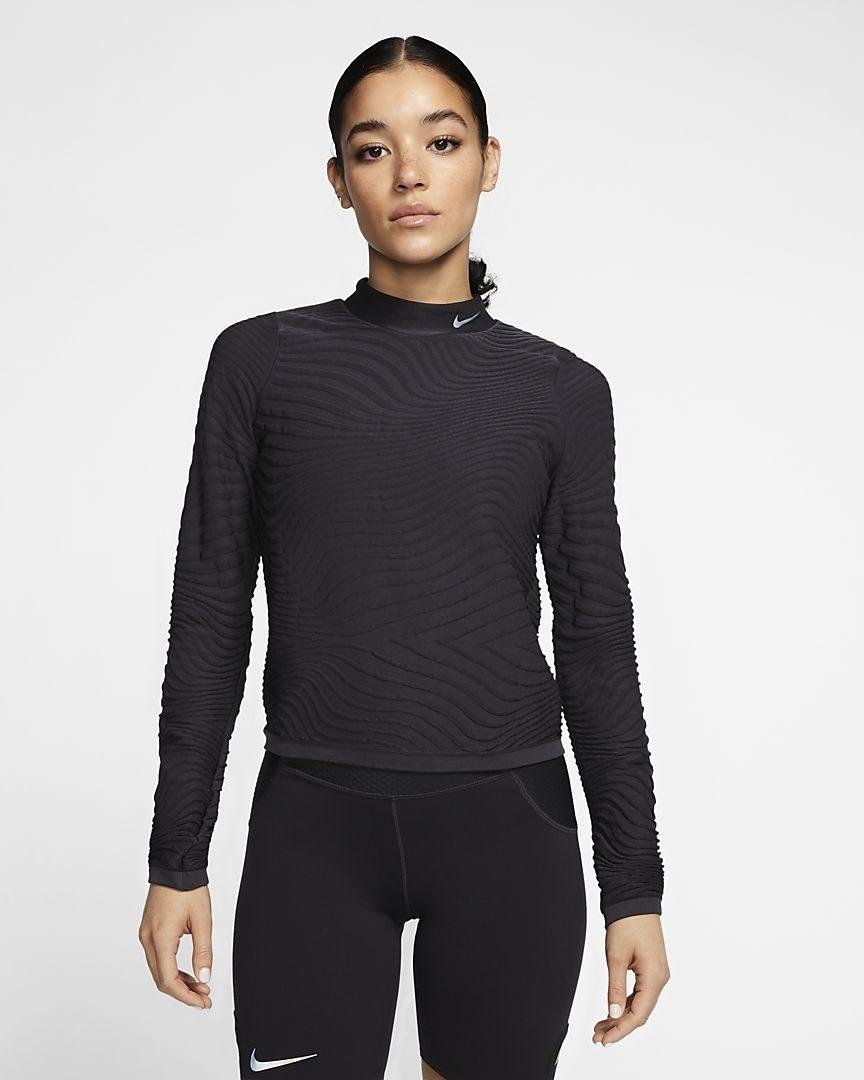 Model in the top in black