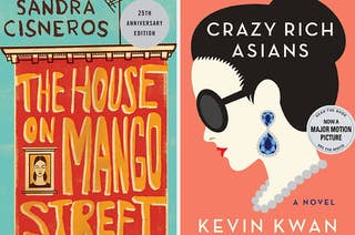 The covers of The House on Mango Street and Crazy Rich Asians