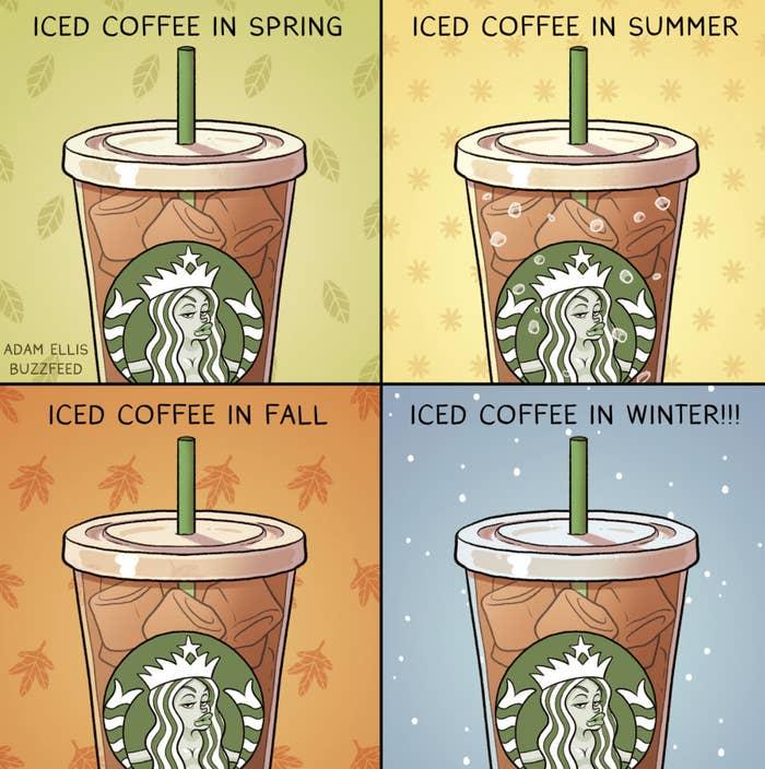 Drinking iced coffee year-round